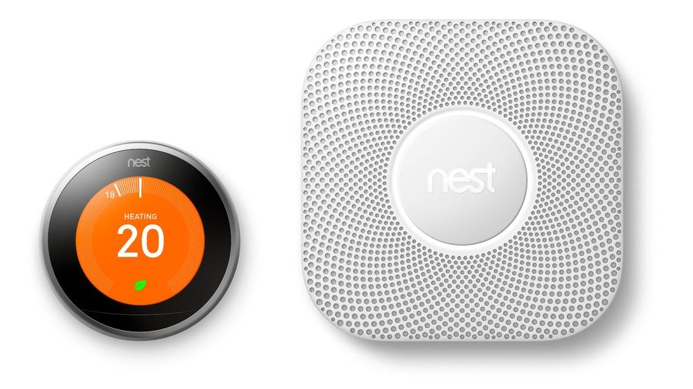 Nest thermostat with smoke alarm