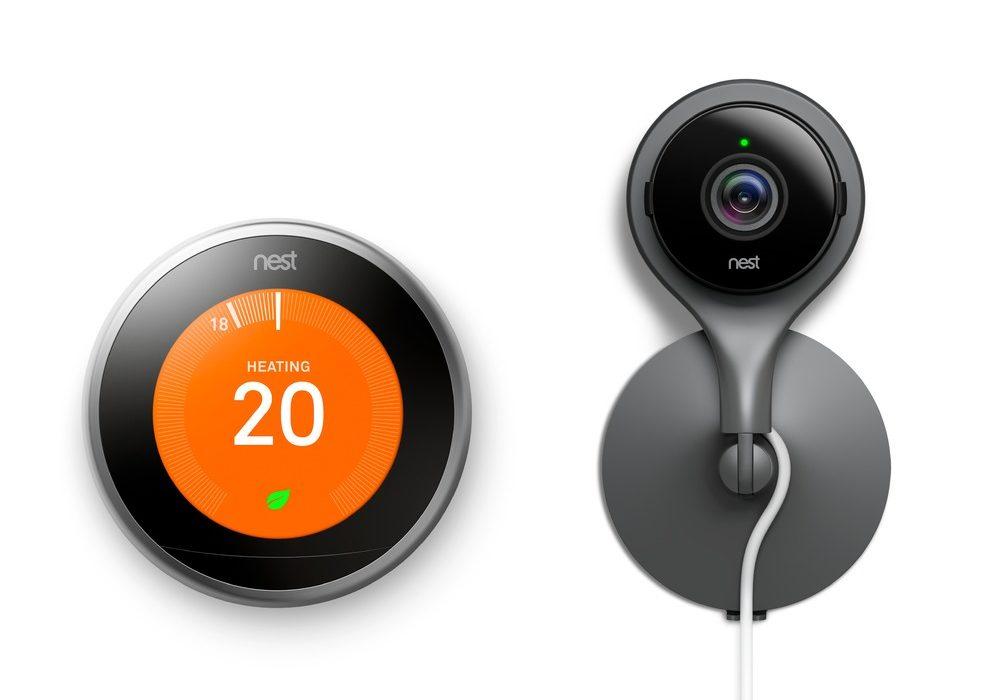 Nest thermostat with nest camera