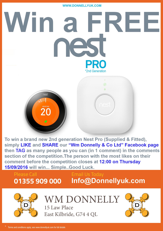 wm donnelly co ltd free nest smart thermostat east kilbride glasgow. Black Bedroom Furniture Sets. Home Design Ideas