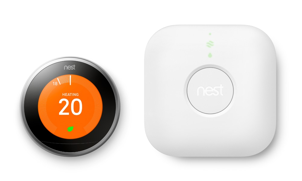 Nest thermostat with receiver